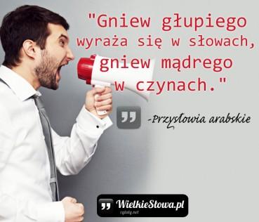 Gniew głupiego wyraża się w słowach…