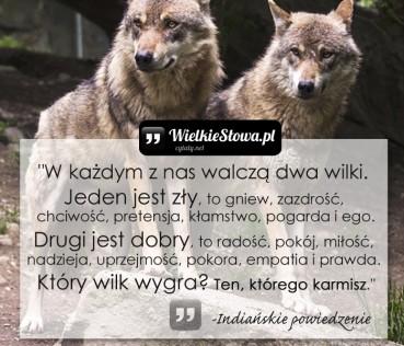 W każdym z nas walczą dwa wilki…