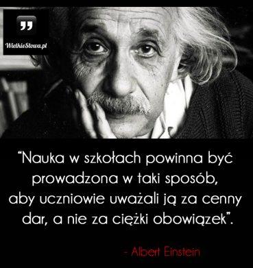 Nauka w szkołach powinna być prowadzona w taki sposób…