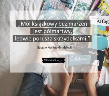 Mól książkowy bez marzeń jest półmartwy…