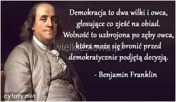 Demokracja to dwa wilki i owca...