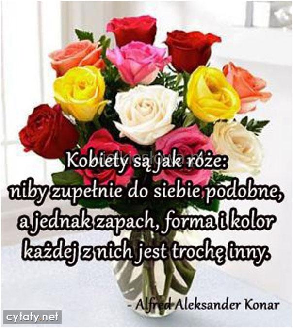 Kobiety są jak róże: niby zupełnie do siebie podobne...