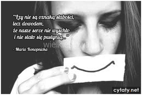 Łzy nie są oznaką słabości, ale…