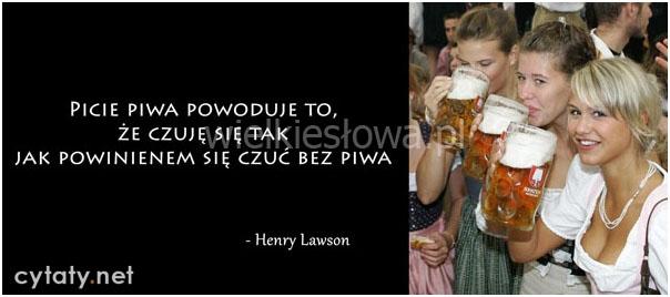 Picie piwa...