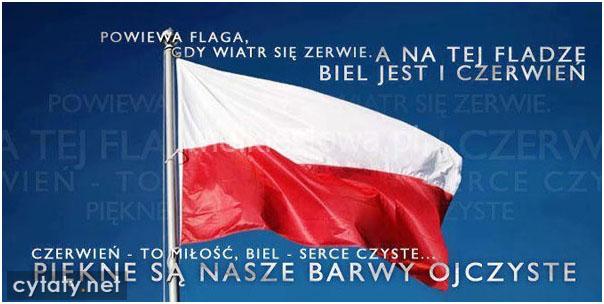Powiewa flaga, gdy wiatr się zerwie...
