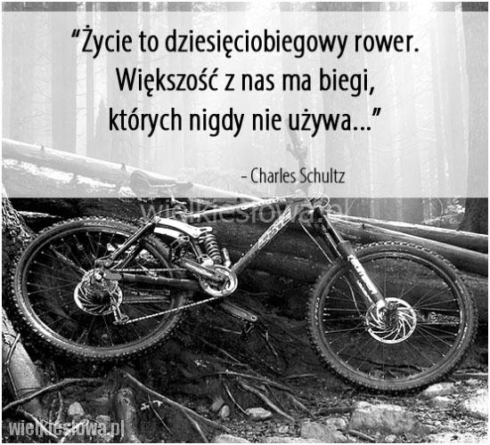 Życie to dziesięciobiegowy rower....