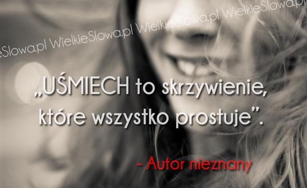 cytaty o uśmiechu Uśmiech to skrzywienie   WielkieSłowa.pl   Najlepsze cytaty w  cytaty o uśmiechu