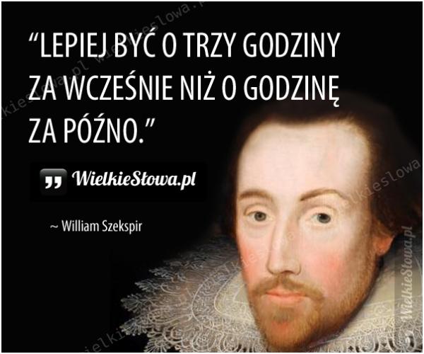 Szekspir William Cytaty Sentecje Aforyzmy
