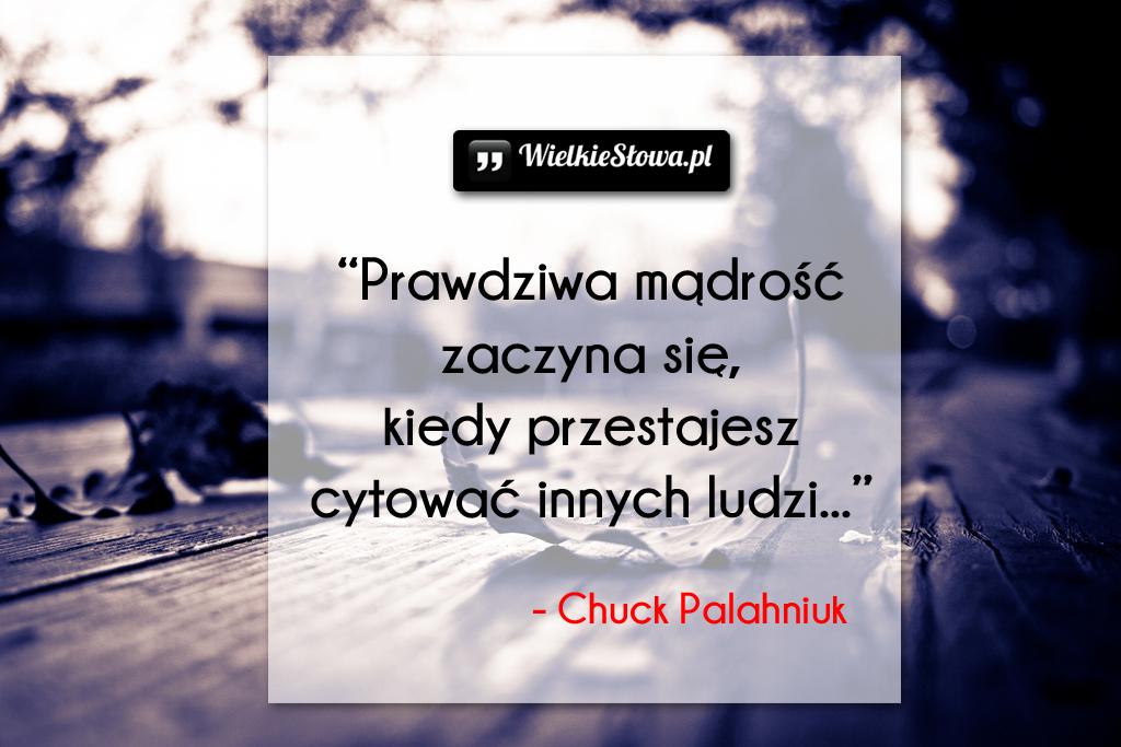 Cytaty o mądrości: Prawdziwa mądrość zaczyna się...