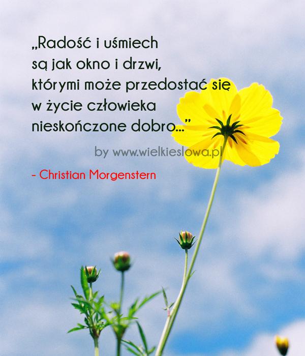 Radość i uśmiech są jak okno i drzwi...