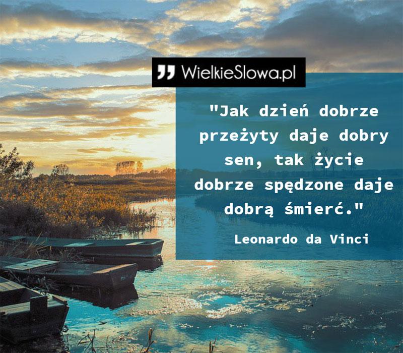 Jak dzień dobrze przeżyty daje dobry sen - WielkieSłowa.pl