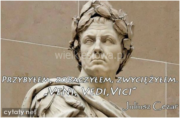 Juliusz Cezar Cytaty Sentecje Aforyzmy